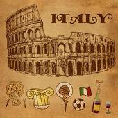 Colosseum in Rome — Stock Vector