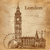 Bigben in London — Stock Vector