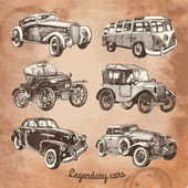 Legendary cars — Vettoriale Stock