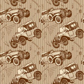 Vintage cars — Vector de stock