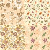 Conjunto de padrões para têxteis — Vetor de Stock