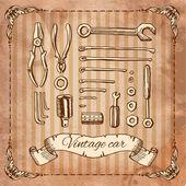 Mönster verktyg för reparation — Stockvektor