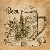 Glass of beer — Stock Vector