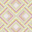 Zigzag seamless pattern of colored lines and dots. — Vektorgrafik