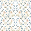 Pastel floral seamless pattern in vintage style — Stock Vector