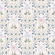 Vintage floral seamless pattern in soft colors — Stock Vector