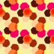 Seamless pattern with colorful grunge circles. — Stockvektor