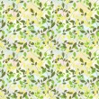 Green branches of plants in the seamless pattern — Imagen vectorial