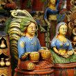 Colorful Pottery At An Indian Craft Fair — Stock Photo