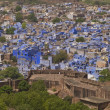 Stock Photo: Blue City of Jodhpur