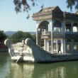 Marble Boat At The Summer Palace In Beijing - Stock Photo