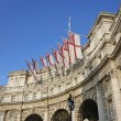 White Ensign Flags on Admiralty Arch — Stock Photo