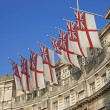 Flags on Admiralty Arch - Stock Photo