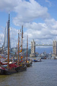 Boats on the River Thames — Stock Photo
