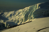 Glacier on top of Mount Kilimanjaro — Stock Photo