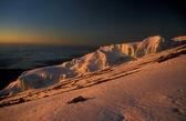 Sunrise on top of Mount Kilimanjaro — Stock Photo