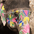 Painted Elephant — Foto de stock #18017385