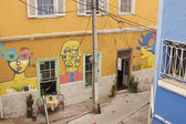 Colourful Murals of Valparaiso — Stock Photo