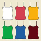 Vector singlets template — Stock Vector