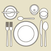 Place setting — Stock Vector