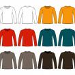 Long-sleeved T-shirt template — Stock Vector