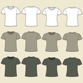 Blank t-shirts template. Front and back — Stock Vector