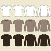 Long-sleeved T-shirt and T-shirt template — Stock Vector