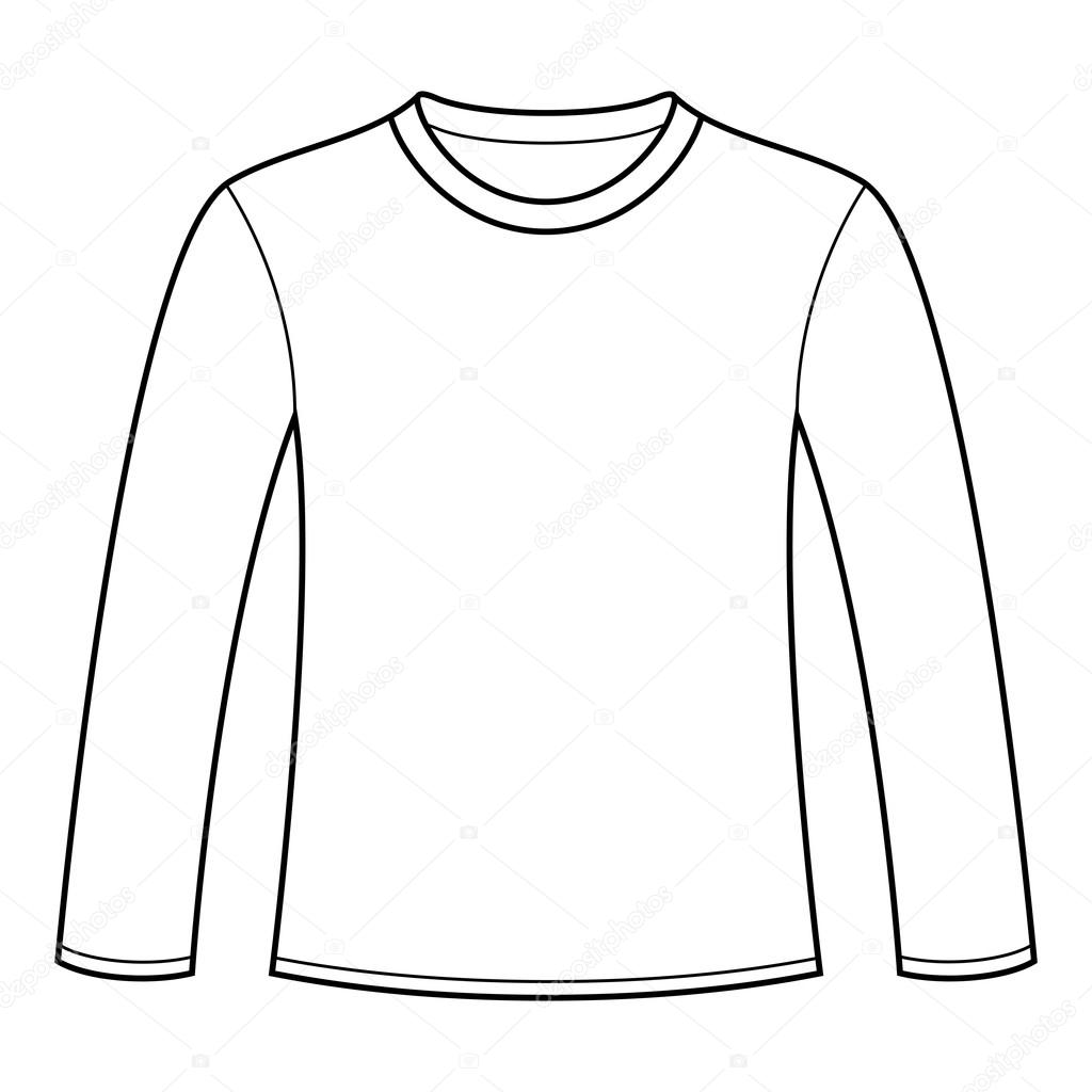 Long Sleeve Shirt Vector Template Long-sleeved T-shirt Template