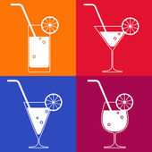 Cocktail glasses — Stock Vector