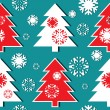 Royalty-Free Stock Vector Image: Christmas tree pattern