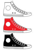Illustration of sneakers — Stock Vector