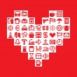 Pixel heart. Vector illustration — Imagen vectorial