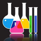 Laboratorieartiklar av glas — Stockvektor