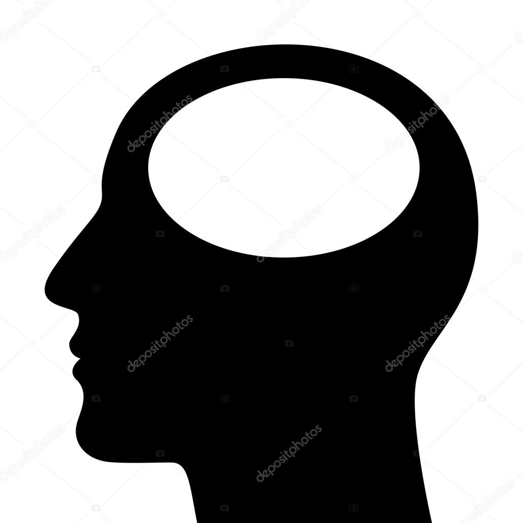 SIlhouette of a head isolated on white background. Vector illustration  Stock Vector #16960109