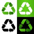 Stock Vector: Set of recycle sign