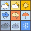 Royalty-Free Stock Vector Image: Colorful weather symbols