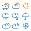 Vector weather symbols — Stock Vector #21352545