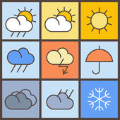 Colorful weather symbols — Wektor stockowy