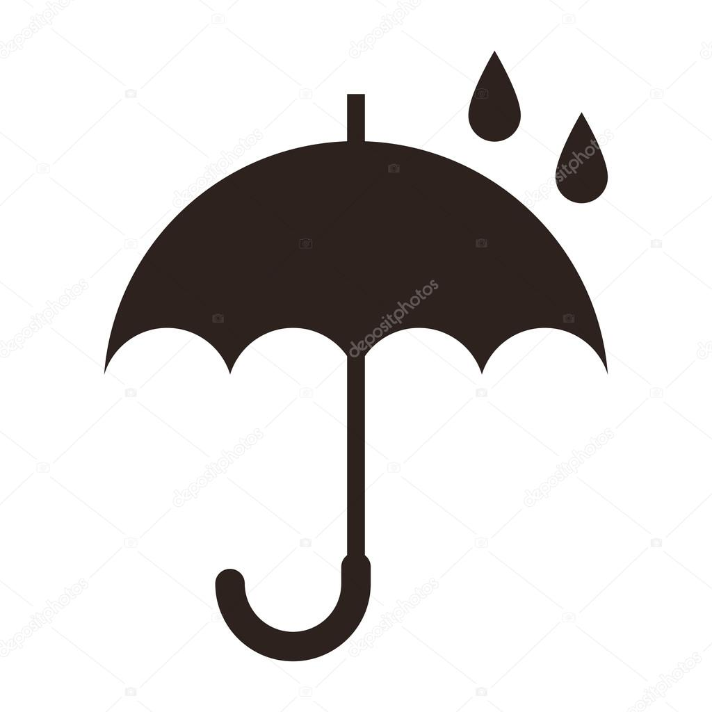 Umbrella isolated on white background - vector illustration — Stock Vector #21369309