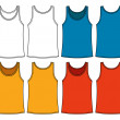 Singlets template - front and back - Stock Vector