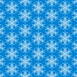 Stock Vector: Blue seamless snowflake pattern