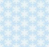 Blue seamless snowflake pattern — Stock Vector