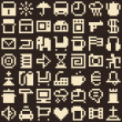 Set of pixel objects. Seamless background — Stok Vektör