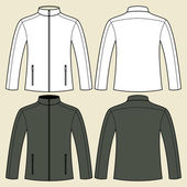 Jacket template - front and back — Stock Vector