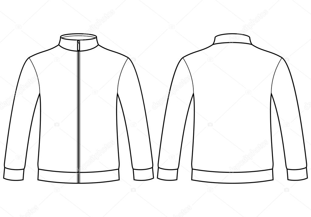 blank sweatshirt template stock vector nikolae 32711205