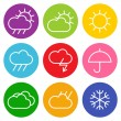 Colorful weather sign — Stock Vector