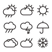 Weather sign — Stock Vector
