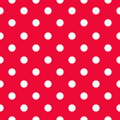 Seamless polka dot pattern — Stock Vector
