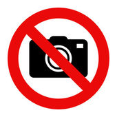 Cameras prohibited sign — Stock Vector