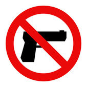 No gun sign — Stockvector